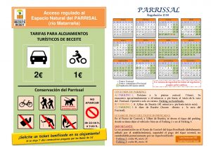 Calendario y Tarifas Parrissal 2018